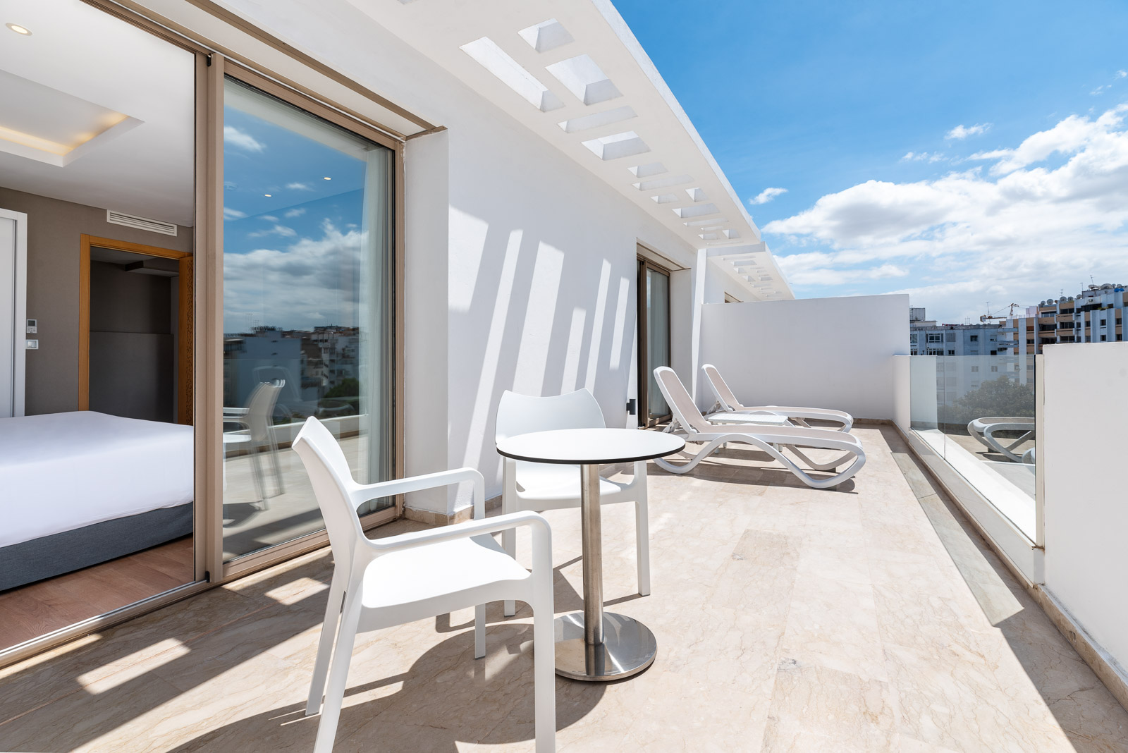 terraza de hotel