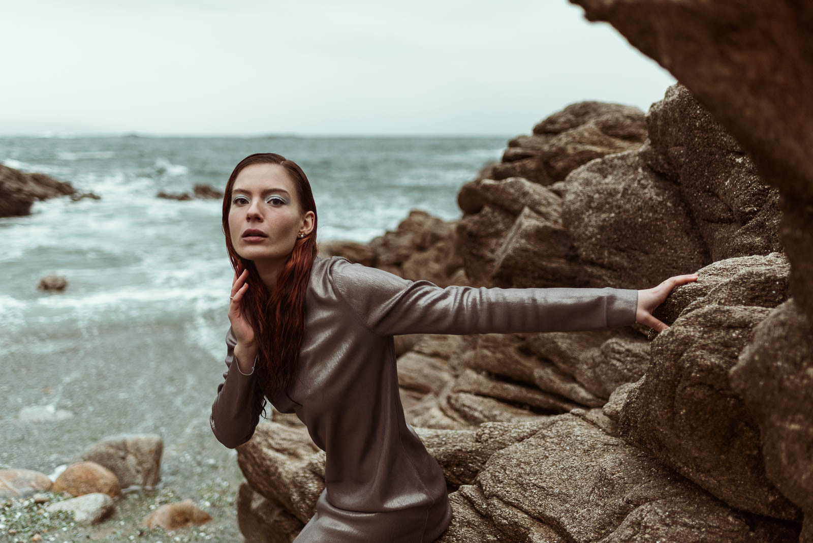 modelo en playa