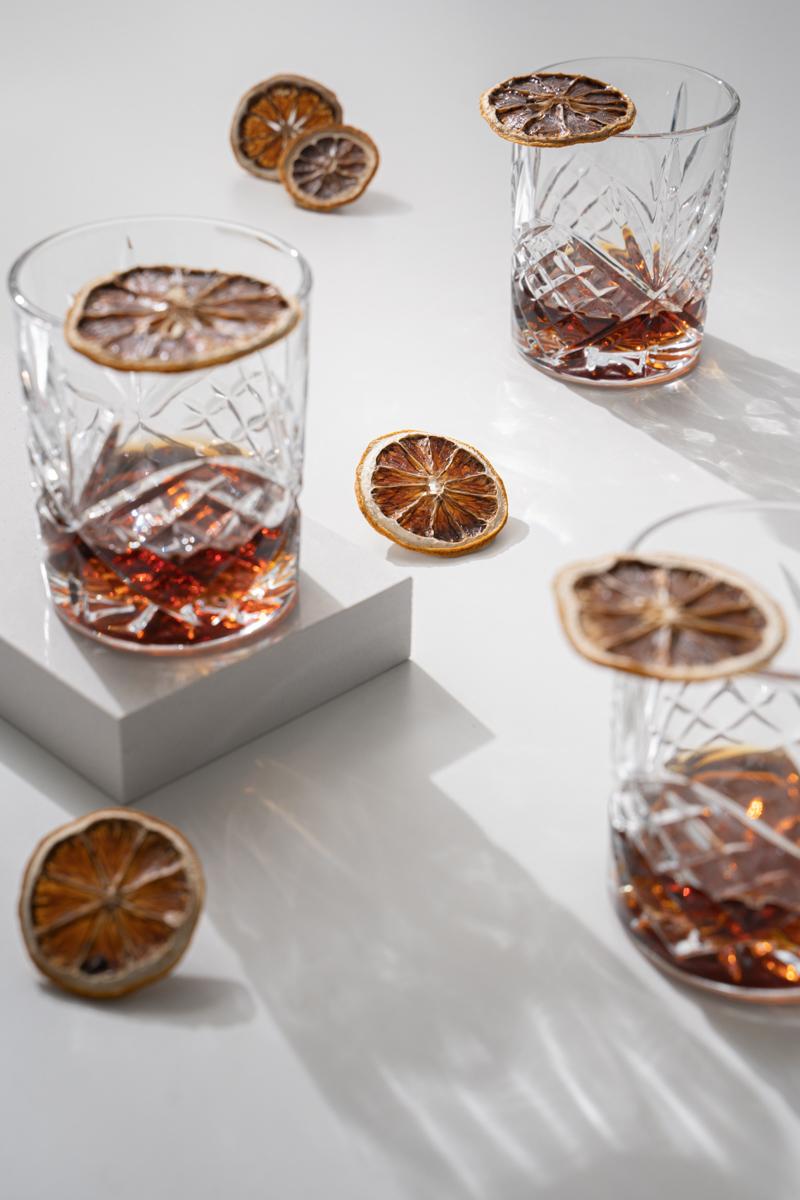 fotografía de cristal y objetos reflectantes